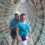 Al & Deb on Rope Bridge