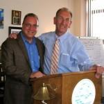 Anthony Nanula and City Comptroller Mark Schroeder